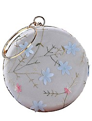 cheap -Women's Bags Polyester Evening Bag Embroidery / Flower White