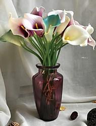 abordables -Fleurs artificielles 5 Une succursale Rustique / Mariage Calla Lily Fleur de Table
