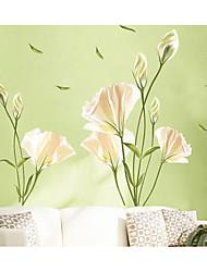 abordables -Abstrait A fleurs/Botanique Stickers muraux Autocollants avion Autocollants muraux décoratifs, Papier Décoration d'intérieur Calque Mural