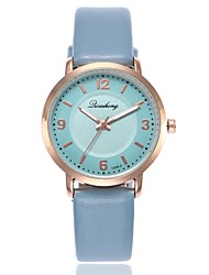 baratos -Mulheres Quartzo Relógio Elegante Relógio de Moda Relógio Casual Chinês Relógio Casual PU Banda Casual Fashion Azul Verde Cinza Rosa Roxa