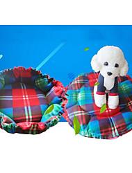 Недорогие -Компактность Мягкий Одежда для собак Матрас Горошек Клетки Цветочные/ботанический Цвет в случайном порядке Коты Собака
