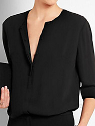 cheap -Women's Simple Blouse - Solid Colored