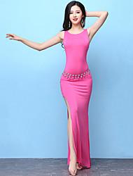 abordables -Danza del Vientre Accesorios Mujer Entrenamiento Modal Separado Sin Mangas Cintura Alta Vestido / Pantalones cortos