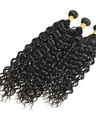 abordables -Cheveux Brésiliens Bouclé Cheveux Rémy Tissages de cheveux humains 3 offres groupées 10-30 pouce Tissages de cheveux humains Noir Naturel Extensions de cheveux humains