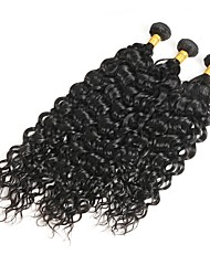 cheap -Brazilian Hair Curly Remy Human Hair Natural Color Hair Weaves 3 Bundles 10-30inch Human Hair Weaves Natural Black