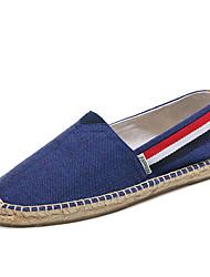 abordables -Homme Chaussures Coton Toile Eté Automne Espadrilles Moccasin Mocassins et Chaussons+D6148 Ruban pour Décontracté Bureau et carrière