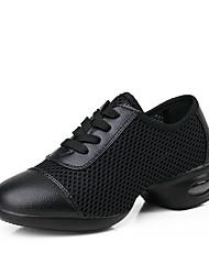 Недорогие -Женская обувь - Кожа - Номера Настраиваемый ( Черный/Красный ) - Танцевальные кроссовки