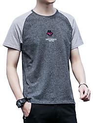 Majica s rukavima Muškarci - Osnovni Ulični šik Jednobojni Color block
