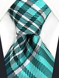 Недорогие -мужской партийный рабочий районный галстук - цветной клетчатый жаккард