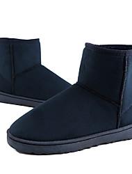 preiswerte -Herrn Schuhe PU Winter Schneestiefel Komfort Stiefel Mittelhohe Stiefel für Normal Draussen Braun Knackmandel Koffee Rot Blau