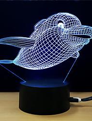baratos -1conjunto Luz noturna 3D DC Powered O stress e ansiedade alívio / Cores Variáveis / Com porta USB 5 V