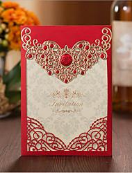 Недорогие -Открытка-карман Свадебные приглашения 50шт - Приглашения на вечеринку по случаю помолвки Приглашения на предсвадебные мероприятия