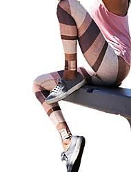 Недорогие -Штаны для йоги Велоспорт Колготки Учебный Йога Быстровысыхающий Фитнес Нормальная strenchy Спортивная одежда Жен. Йога Аэробика и фитнес