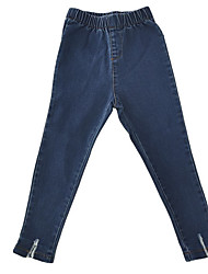 cheap -Girls' Daily Solid Jeans, Cotton Polyester Fall Simple Light Blue Royal Blue