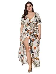 cheap -Women's Boho A Line Dress - Floral, Print
