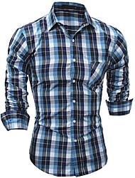 Majica Muškarci - Ulični šik Karirani uzorak Osnovni