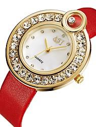 baratos -ASJ Mulheres Relógio Casual / Relógio de Moda Japanês Relógio Casual PU Banda Fashion / Minimalista Preta / Vermelho / Dois anos / SSUO 377