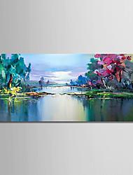Ručno oslikana Sažetak Pejzaž Horizontalan, Moderna Platno Hang oslikana uljanim bojama Početna Dekoracija Jedna ploha