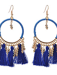 cheap -Women's Tassel Drop Earrings - Tassel / Fashion Rainbow / Red / Blue Circle / Line Earrings For Evening Party / Going out
