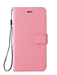 Недорогие -Кейс для Назначение Motorola Z2 play C plus Бумажник для карт Кошелек со стендом Флип Чехол Сплошной цвет Твердый Кожа PU для Moto Z2
