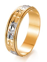 cheap -Men's Band Ring - Gold Plated Fashion 7 / 8 / 9 Gold For Gift / Valentine