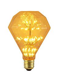 Недорогие -BRELONG® 1шт 3 Вт. 300 lm E26/E27 Круглые LED лампы 47 светодиоды SMD звездный Декоративная Желтый 220-240V