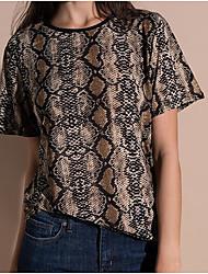preiswerte -Damen Geometrisch-Grundlegend T-shirt Druck