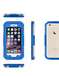 Недорогие -Кейс для Назначение Apple iPhone 6 Защита от удара / Прозрачный Кейс на заднюю панель Сплошной цвет Мягкий ПК для iPhone 6s