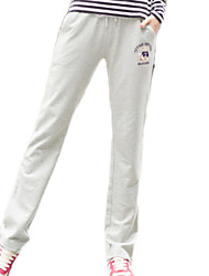 cheap -Women's Sporty Cotton Loose Sweatpants Pants - Solid Colored Basic / Spring / Summer / Sporty Look