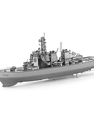cheap -3D Puzzles Metal Puzzles Warship Destroyer Focus Toy Hand-made Metal 1pcs Standing Style Nautical Toy Boat Kid's Adults' Girls' Boys' Gift