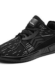 Pánské Obuv Tyl Zima Podzim Pohodlné Atletické boty Chůze pro Sportovní Ležérní Bílá Černá Červená