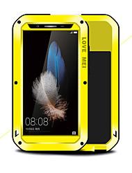 baratos -Capinha Para Huawei Enjoy 5S Antichoque Água / Dirt / à prova de choque Capa Proteção Completa Côr Sólida Rígida Metal para Huawei Enjoy