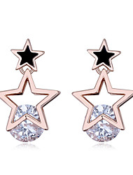 cheap -Women's Lovely Zircon Stud Earrings - Fashion / Sweet Gold / Silver / Rose Gold Starfish Earrings For Party / Party / Evening