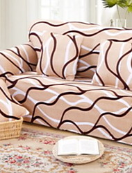 billige -Moderne 100% Polyester Mønstret Loveseat Dække, Simple Damask Stribet Trykt Møbelovertræk