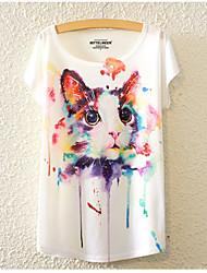 cheap -Women's Holiday Basic Loose T-shirt - Animal