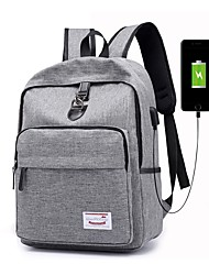 cheap -Men's / Women's Bags Canvas Backpack Zipper for Outdoor Black / Gray / Purple
