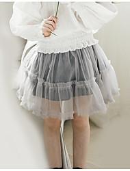 preiswerte -Mädchen Rock Alltag Solide Polyester Frühling Sommer Einfach Grau