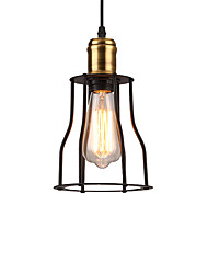 cheap -Vintage Black Metal Cage Loft Pendant Lights Living Room Dining Room Hallway Cafe Bars Clothing Store Light Fixture
