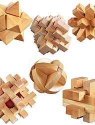 Недорогие -Деревянные пазлы Стресс и тревога помощи / Фокусная игрушка деревянный 6 pcs Детские / Взрослые Подарок