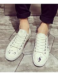 Homens sapatos Couro Ecológico Primavera Outono Conforto Tênis para Casual Branco