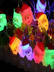 economico -3M Fili luminosi 20 LED Multi-colori Decorativo Batterie AA alimentate 1pc