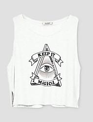 preiswerte -Damen Buchstabe T-shirt Polyester
