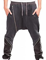 abordables -Homme simple Chino Pantalon Couleur Pleine