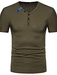 voordelige -Heren Vintage Militair Standaard T-shirt Effen