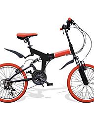 cheap -Folding Bike Cycling 21 Speed 20 Inch SHIMANO RS-35 V Brake Suspension Fork Folding PVC PVC/Vinyl Steel Tube Aluminum Alloy