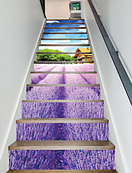 abordables -Paysage A fleurs/Botanique Stickers muraux Autocollants avion Autocollants muraux 3D Autocollants muraux décoratifs, Vinyle Papier