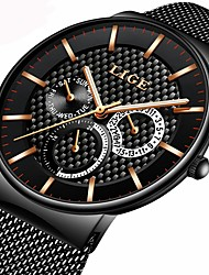 cheap -Men's Quartz Bracelet Watch Military Watch Japanese Calendar / date / day Chronograph Water Resistant / Water Proof Stopwatch Three Time