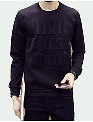povoljno -muške dugme pamučne majice - krut okrugli vrat
