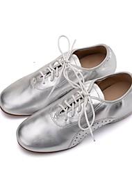 cheap -Women's Jazz Nappa Leather Flat Oxford Professional Flat Heel Gold Black Silver <1 Customizable