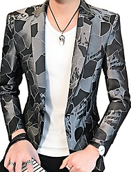 cheap -Men's Active Blazer-Geometric,Print
